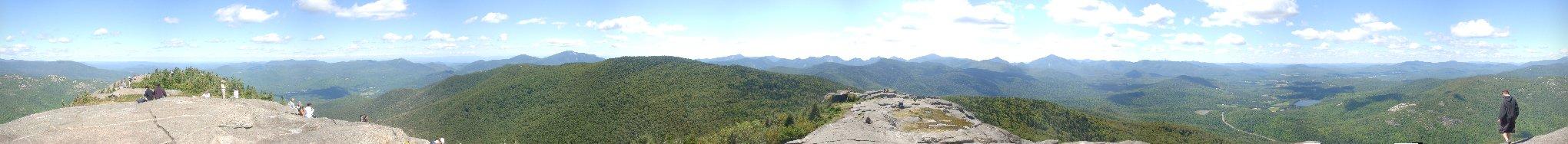 Vue du sommet de Cascade Mountain